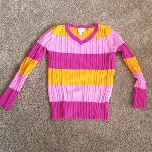 Est 1989 Place Ribbe V-Neck Girls Sweater